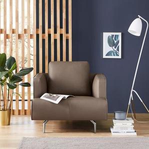 hülsta sofa Sessel »hs.440«, wahlweise in Stoff oder Leder, Gussfüße poliert