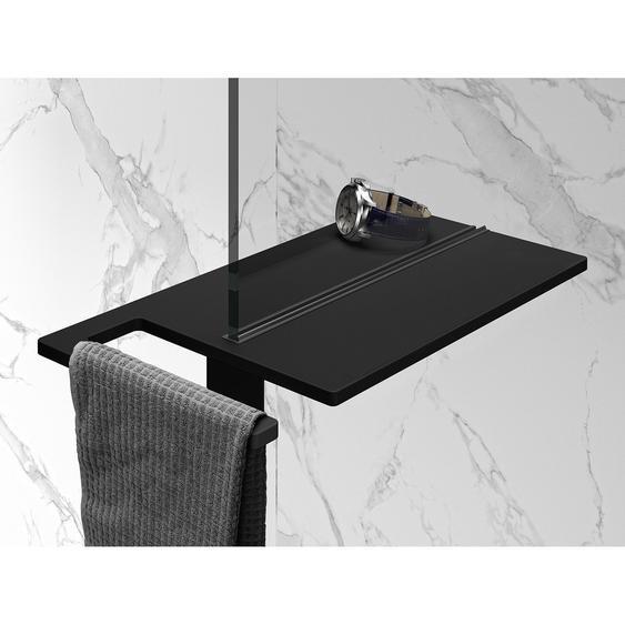 Hüppe Duschablage Select+ mit Handtuchhalter Schwarz