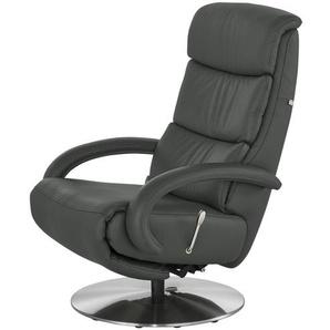 Hukla Leder-Relaxsessel grau - Leder Florian ¦ grau ¦ Maße (cm): B: 73 T: 91 Polstermöbel  Sessel  Fernsehsessel » Höffner