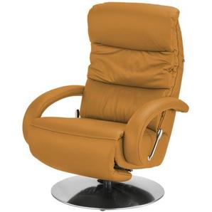 Hukla Leder-Relaxsessel  Florian ¦ orange ¦ Maße (cm): B: 73 H: 102 T: 91