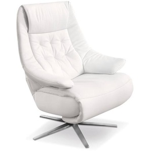 HUKLA Sessel, Weiß, Leder