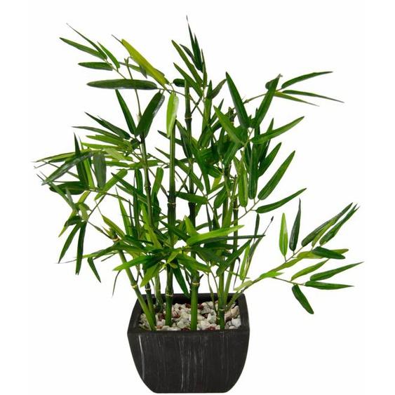 I.GE.A. Kunstpflanze Bambus (1 Stück) 15x15x45 cm grün Zimmerpflanzen Pflanzen Garten Balkon Kunstpflanzen