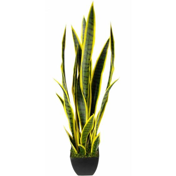 I.GE.A. Kunstpflanze Senseverie (1 Stück) 18x18x85 cm grün Zimmerpflanzen Pflanzen Garten Balkon Kunstpflanzen