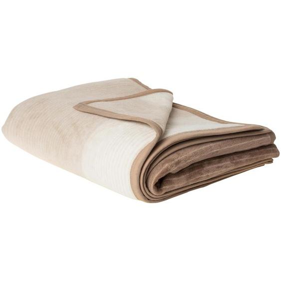 IBENA Jacquard Schlafdecke - braun - 58% Baumwolle, 35% Polyacryl, 7% Polyester   Möbel Kraft