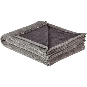 IBENA Jacquard Schlafdecke | grau | 57% Baumwolle, 43% Polyacryl | 150 cm | Möbel Kraft