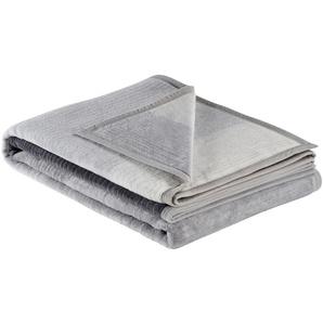IBENA Jacquard Schlafdecke  Sorrento | grau | 58% Baumwolle, 35% Polyacryl, 7% Polyester | 150 cm |