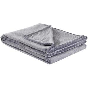IBENA Kuscheldecke | grau | 100 % Polyester | 160 cm | Möbel Kraft