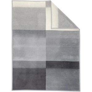 Ibena Kuscheldecke, Grau, Mischgewebe 150 x 200 cm