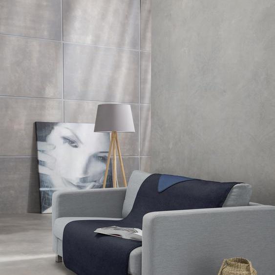 IBENA Sofaschoner Dublin, mit Wendeseite B/L: 100 cm x 200 blau Sofaüberwürfe Hussen Überwürfe