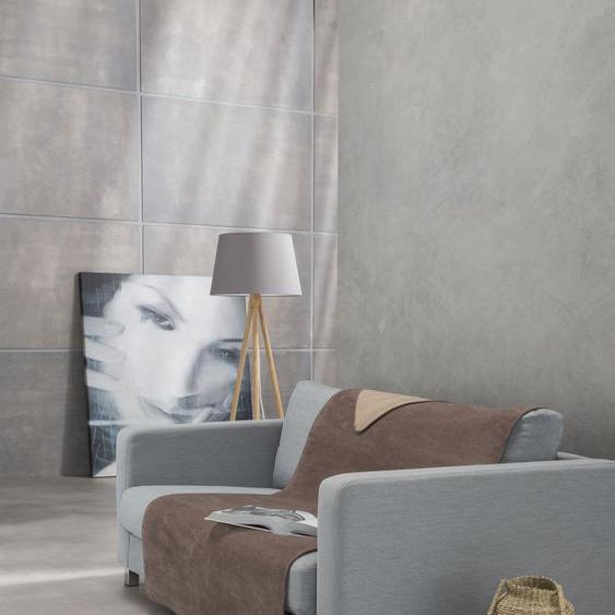 IBENA Sofaschoner Dublin, mit Wendeseite B/L: 100 cm x 200 braun Sofaüberwürfe Hussen Überwürfe