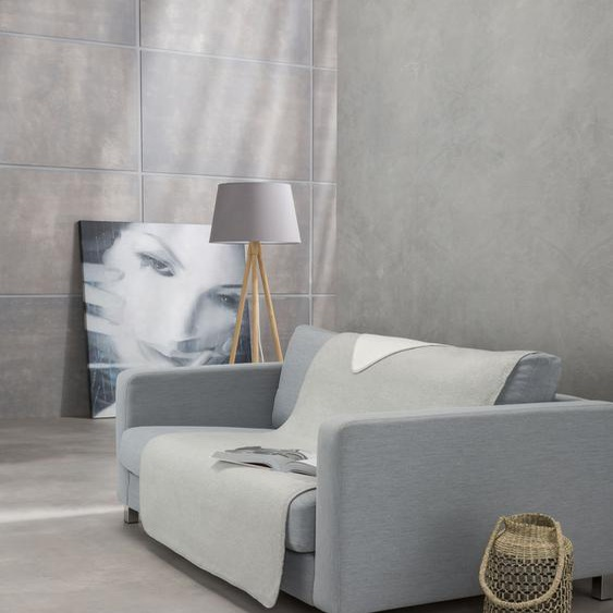 IBENA Sofaschoner Dublin, mit Wendeseite B/L: 100 cm x 200 grau Sofaüberwürfe Hussen Überwürfe