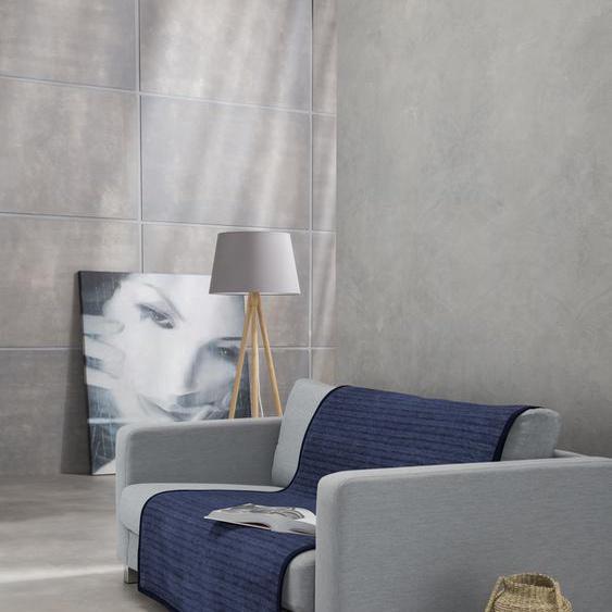 IBENA Sofaschoner Fano Einheitsgröße blau Sofaüberwürfe Hussen Überwürfe Sesselschoner