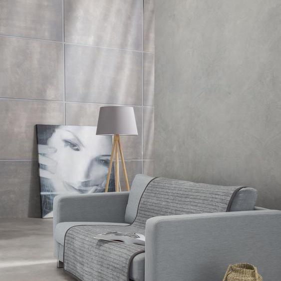 IBENA Sofaschoner Fano Einheitsgröße grau Sofaüberwürfe Hussen Überwürfe Sesselschoner