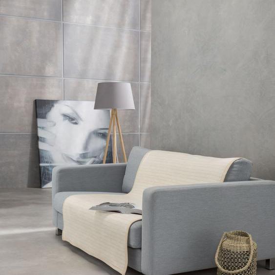 IBENA Sofaschoner Fano, mit modernen Streifen B/L: 100 cm x 200 beige Sofaüberwürfe Hussen Überwürfe