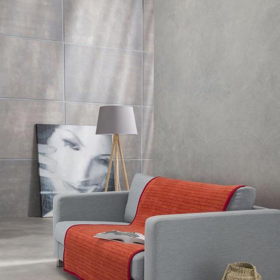 IBENA Sofaschoner Fano, mit modernen Streifen B/L: 100 cm x 200 rot Sofaüberwürfe Hussen Überwürfe