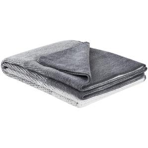 IBENA Überwurf  Egersund | grau | 58% Baumwolle, 35% Polyacryl, 7% Polyester | 150 cm | Möbel Kraft