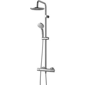 Ideal Standard Duschsystem IdealRain Ceratherm 100, mit Brausethermostat Einheitsgröße silberfarben Duschsysteme Badarmaturen Bad Sanitär
