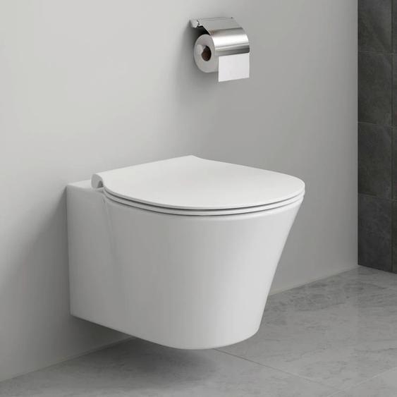 Ideal Standard Tiefspül-WC ProSys mit Connect Air, WC-Element, WC-Sitz und Drückerplatte Einheitsgröße weiß WC-Becken WC Bad Sanitär