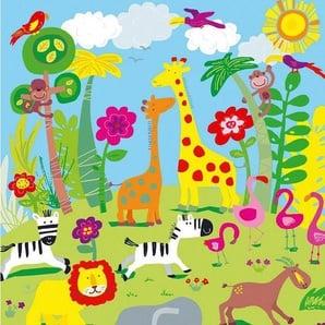 Fototapete »Animal Safari«, 4-teilig, 183x254 cm