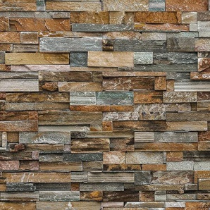 Fototapete »Colorful Stone Wall«, 8-teilig, 366x254 cm