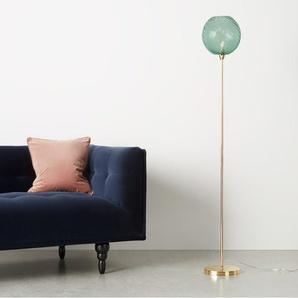 Ilaria Stehlampe, Messing und Glas in Blau
