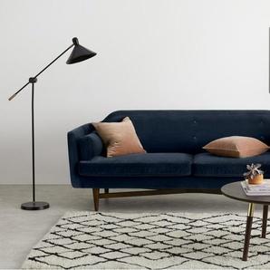 Imani 3-Sitzer Sofa, Samt in Dunkelblau