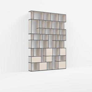 Individualisierbar: Raumtrenner aus Spanplatte in Beige - Moderne Designer-Möbel nach Maß.