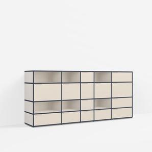 Individualisierbares Sideboard aus Multiplexplatte in Beige. Moderne Designer-Möbel nach Maß - Spanplat