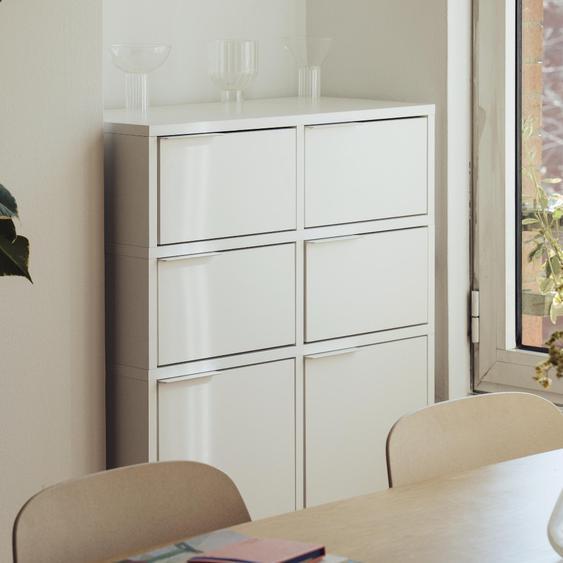 Individualisierbares Sideboard aus Multiplexplatte in Weiß. Moderne Designer-Möbel nach Maß - Spanplat