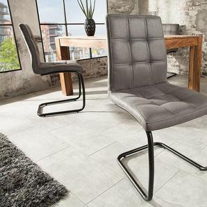 Industrial Freischwinger Stuhl MODENA vintage mit Ziersteppung