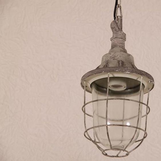 Industrielle Lampe zum aufhängen. Grau
