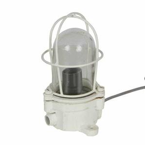 Industry Tischlampe in Weiß Metall