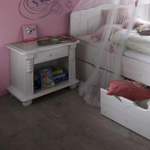 INFANSKIDS Romantik Kinderzimmer Nachtkommode weiss gewachst