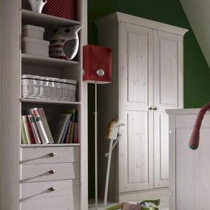 INFANSKIDS X-Line Babyzimmer Kleiderschrank 2-türig weiss gewachst / provencefarbig