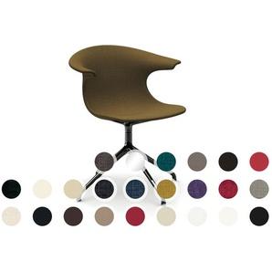 infiniti LOOP 4 Star gepolstert Designer-Stuhl AL30 Weiß matt lackiert / Kunstleder 1018