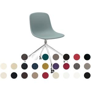 infiniti PURE LOOP Swivel gepolstert Büro-Stuhl AL31 Schwarz matt lackiert / Kunstleder 1009