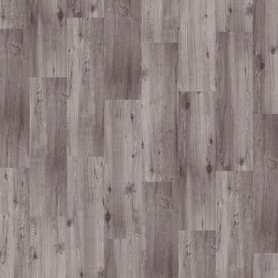 Infloor Teppichfliese Velour Holzoptik Eiche grau, rechteckig, 4 mm Höhe, in B/L: 25 cm x 100 cm, 14 St. grau Teppichfliesen Bodenbeläge Bauen Renovieren