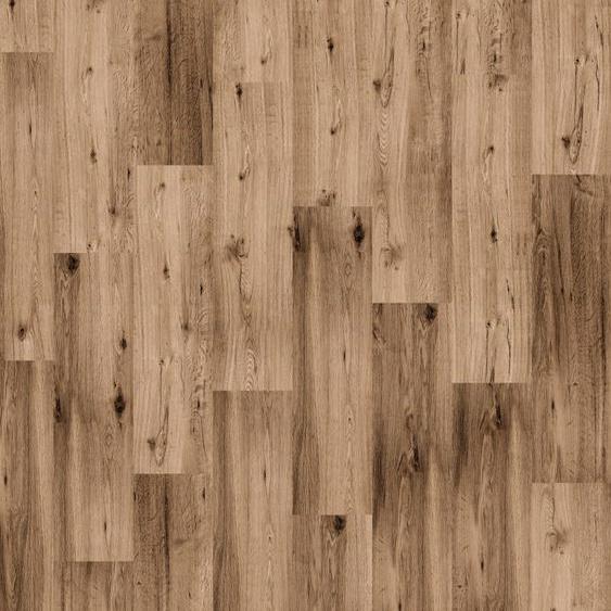 Infloor Teppichfliese Velour Holzoptik Eiche rustikal, rechteckig, 6 mm Höhe, 14 Stück, 4 m², 25 x 100 cm, selbsthaftend, für Stuhlrollen geeignet B/L: cm St. braun Teppichfliesen Bodenbeläge Bauen Renovieren