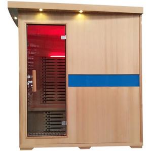 Infrarotkabine HWC-D49, Infrarotsauna W�rmekabine, Musik LED Sicherheitsglas Sauerstoff ~ 4 Personen, Karbonheizung
