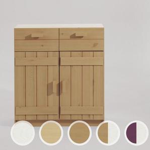 INFSNAKIDS Kinderzimmer Kommode - 2 Türen, 2 Schubfächer natur / B 81 x H 88 x T 33,5 cm