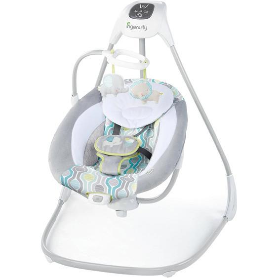 Ingenuity Schaukel SimpleComfort Cradling Swing™ Everston™ grauweiß