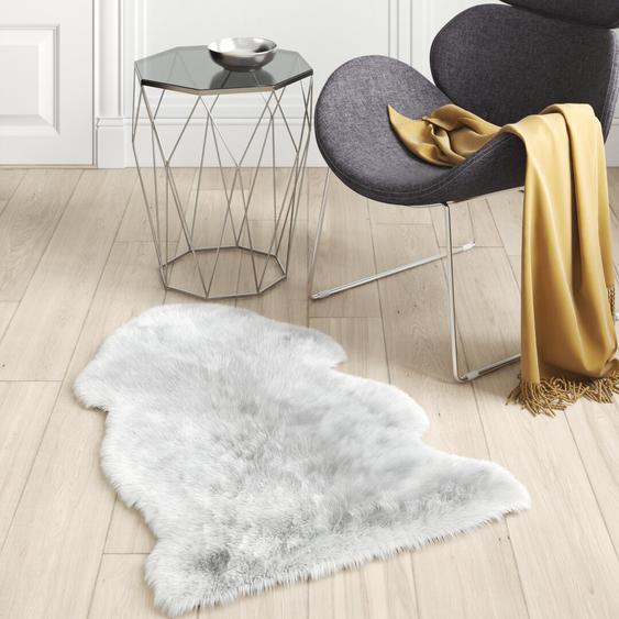 Innen-/Außenteppich Estelle aus Wolle in Hellgrau