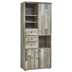 Innostyle Bonanza Hochschrank 83x39x189cm Driftwood