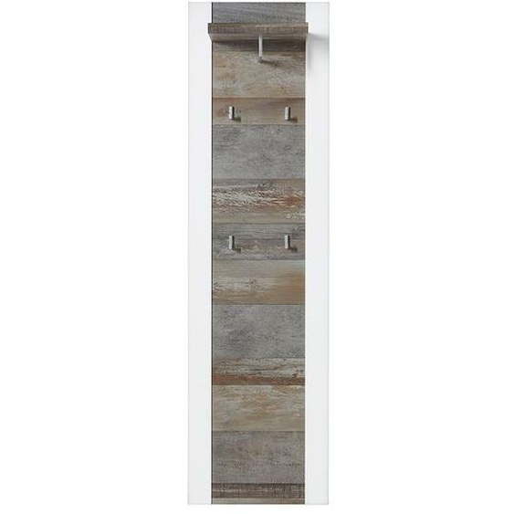 Innostyle Mateo Garderobenpaneel 48x29x170cm Weiß/Driftwood