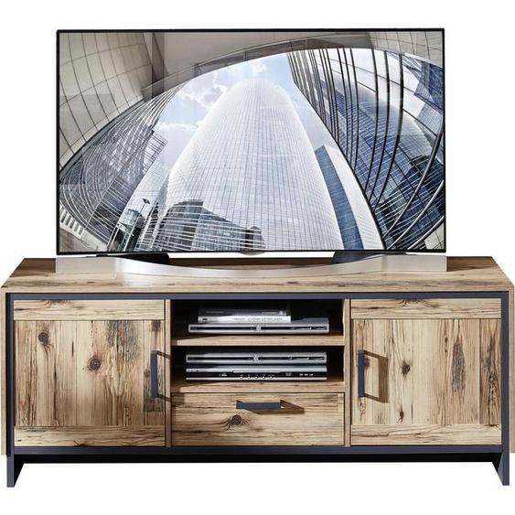 TV-Board »Prato«, 155x61x45 cm (BxHxT), FSC®-zertifiziert, Innostyle, grau, Material Holzwerkstoff, Spanplatte, Kunststoff, Metall, Soft-Close-Funktion