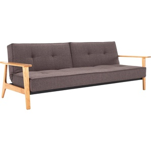 INNOVATION™ Schlafsofa »Splitback«, mit Frej Arm in Eiche, in skandinavischen Design