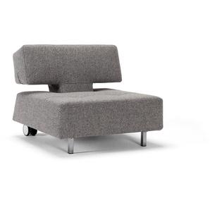 INNOVATION™ Sessel Long Horn 0, Webstoff grob TWIST grau Schlafsessel