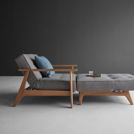 INNOVATION LIVING ™ Sessel »Splitback«, mit Frej Arm, in Eiche, in skandinavischen Design, grau, Struktur grob MIXED DANCE