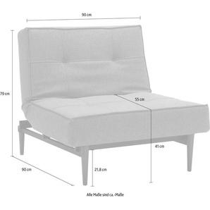 INNOVATION™ Sessel Splitback 0, Webstoff fein FLASHTEX grau Schlafsessel