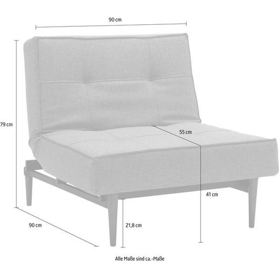 INNOVATION LIVING ™ Sessel Splitback Webstoff fein FLASHTEX grau Schlafsessel